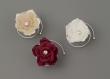 Curlies 6 Stueck Blume mit Strassstein  bordeaux 6