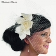 Fascinator  Farbe  weiss