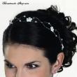 Haarranke mit Perlen   45 cm  Farbe  weiss