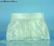 Brauttasche aus Crashtaft  Farbe  weiss