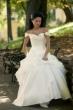 Brautkleid aus Satin und Organza   weiss