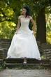 Brautkleid mit franzoesischer Spitze   weiss