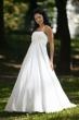 Brautkleid aus Satin und Chiffon   champagner