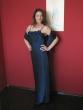 Abendkleid und Stola  royalblau