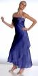Abendkleid Design Strassbrosche   royalblau
