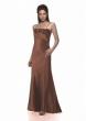 Abendkleid bronze und Stola   Groesse  34