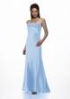 Abendkleid und Stola  hellblau