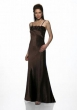 Abendkleid Rosen mit passender Stola, schwarz